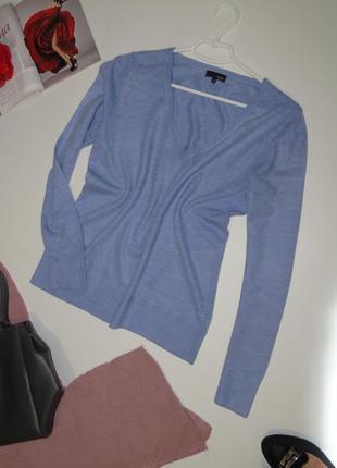 В наличии базовый голубой слегка меланжевый свитер 14 размера next