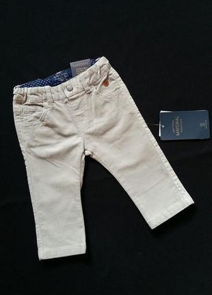 Микровельветовые штаны/брюки mayoral (испания) на 3-6 месяцев (размер 68)