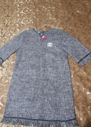 Платье твидовое в стиле chanel
