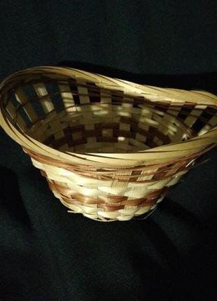 Хлебница плетёная, соломка