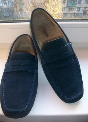 Туфли мокасины мужские натуральная замша balmain р. 43