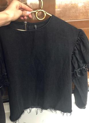 Джинсовая рубашка-кофта