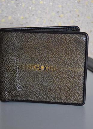 Кошелек мужской из кожи ската mosart stingray skin polish skin no.2814