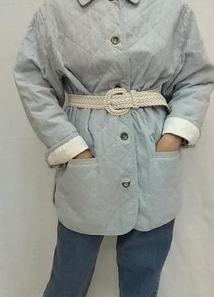 Винтажный , стёганный пиджак , куртка , жакет  apart