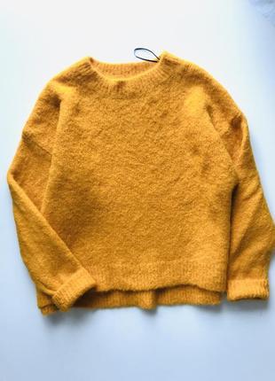 Яркий желтый 💛 шерстяной свитер оверсайз