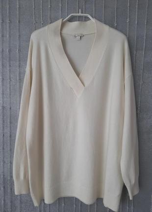 Джемпер gap с шерстью молочного цвета в идеальном состоянии