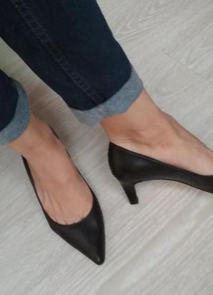 Туфли лодочки натуральная кожа