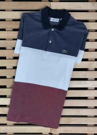 Супер крутая мужская футболка поло lacoste размер s