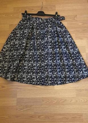 Пышная юбка миди от h&m из фактурной ткани. новая. р-р м5 фото