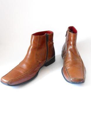 Кожаные демисезонные мужские ботинки от бренда red tape, р.41 код n4102