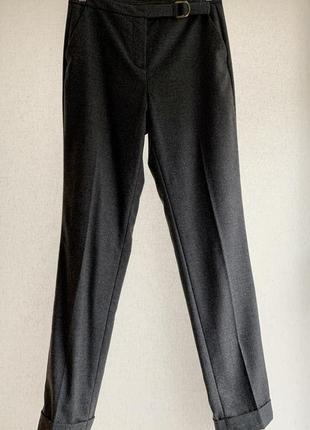 Шерстяные узкие брюки с подворотом, massimo dutti, 36/s
