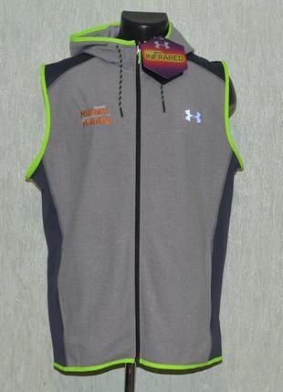 Жилет, жилетка under armour mens coldgear infrared gray fleece vest
