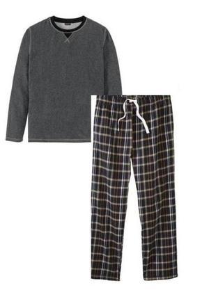 Мужская пижама livergy германия р. м 48-50, флис/фланель