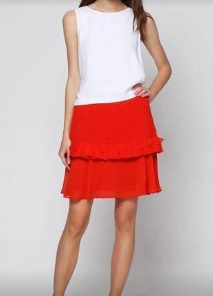 Яркая юбка плотная вязка