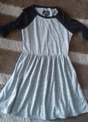 Спортивное платье,серо-чёрное платье/платя,платтячко/платя