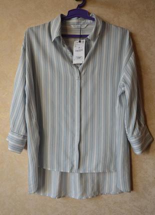 Новая брендовая  рубашка  блуза zara в полоску.