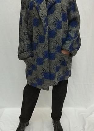 Винтажный , шерстянной кардиган , оверсайз  с  большими карманами