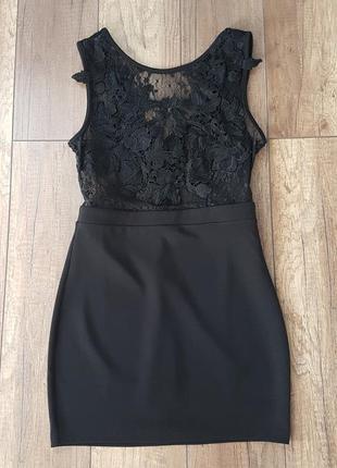 Очень красивое черное маленькое платье, размер s.