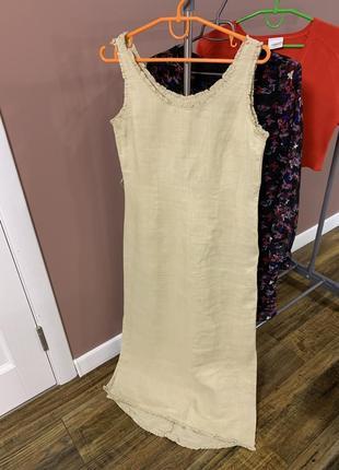 Летні лляне плаття/ летнее ленное платье