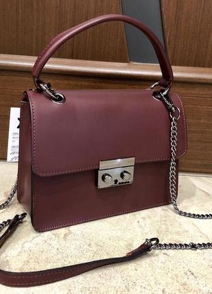 Кожаная сумка сумка из натуральной кожи италия кроссбоди сумка шкіра шкіряна сумка