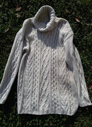 Теплый свитер длинный gina laura