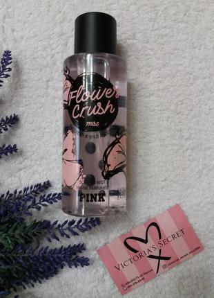 Парфюмированный спрей flower crush pink victoria secret виктория сикрет