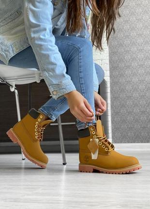 Женские ботинки timberland с мехом