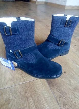 Стильные ботинки inblu. натуральная замша + фетр