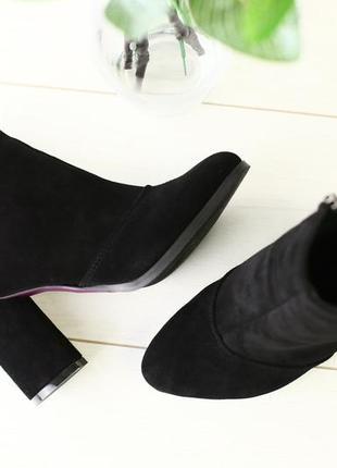 Lux обувь! распродажа! натуральные замшевые деми ботинки ботильоны