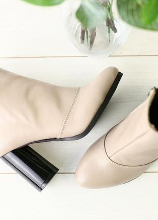 Lux обувь! шикарного качества кожаные натуральные ботинки ботильоны сапоги