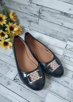 Туфли балетки женские черные