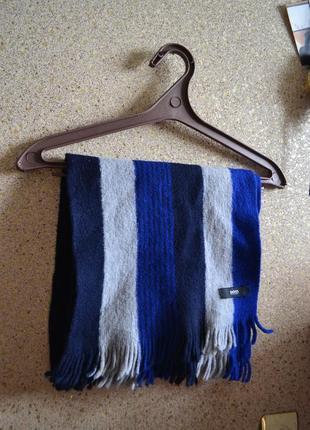 Hugo boss мужской теплый шарф шерсть.