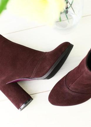 Lux обувь! шикарного качества деми сапоги ботинки ботильоны натуральная замша