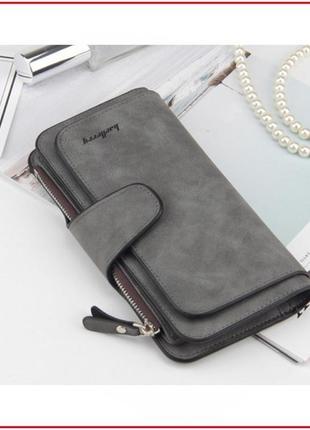 Шикарный стильный замшевый кошелек портмоне baellerry / клатч шикарный