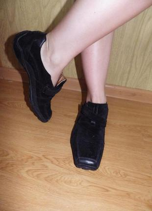 Мягкие/удобные спортивные туфли/нат.кожа и нат.замш кожа/26,5-27 см