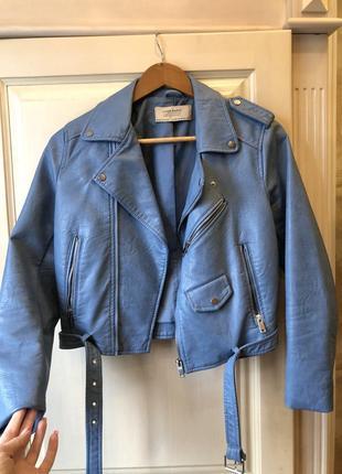 Кожаная куртка zara