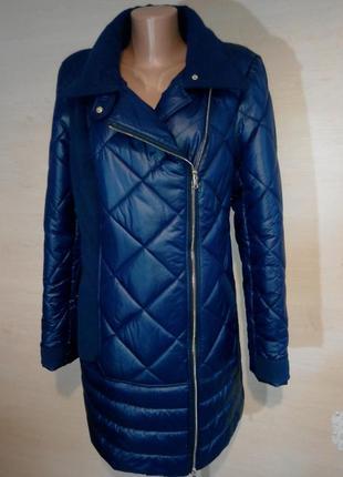 Комбинированное укороченное пальто из плащевой ткани и  кашемира