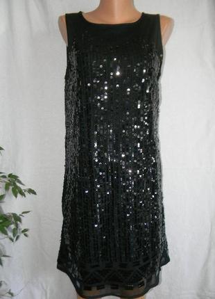Красивое нарядное платье пайетки roman