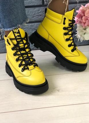 Lux обувь! крутые натуральные высокие ботинки на шнуровке