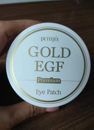 Petitfee premium gold & egf eye patch (60шт) гидрогелевые патчи для глаз
