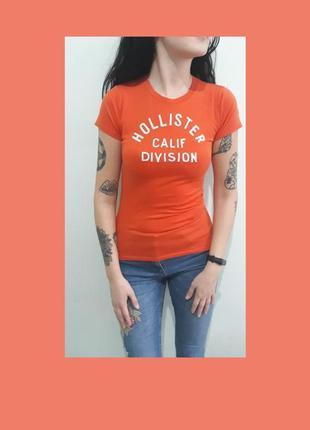 Стильная фирменная футболка hollister. s