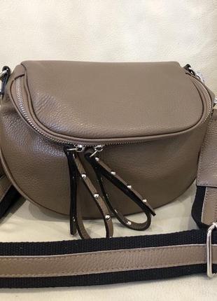 Шкіряна сумка кожаная сумка сумка из натуральной кожи италия кроссбоди
