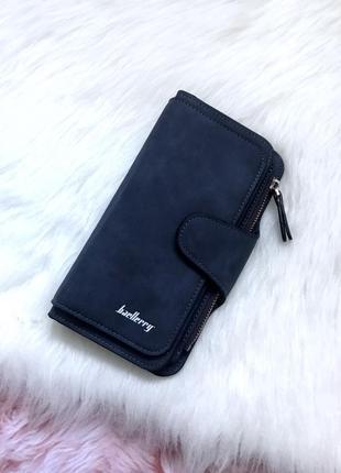 Шикарный стильный замшевый кошелек портмоне baellerry / клатч