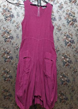 Изумительное льняное  платье completo