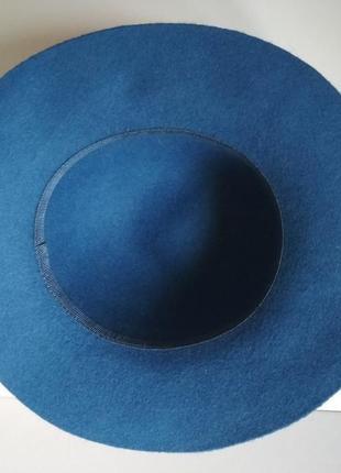 Синяя шляпка шерсть кашемир