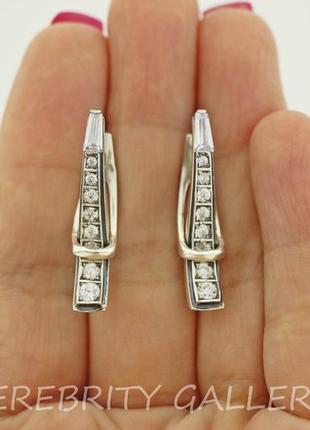 10% скидка подписчику серьги серебряные i 200035 w серебро 925