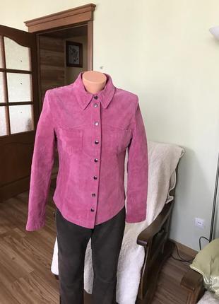 Кожаная рубашка- куртка