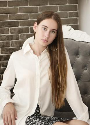 Шелковая белая блуза рубашка