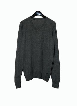 Стильный женский  пуловер серого цвета