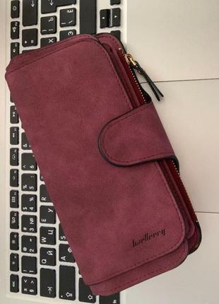 Новый шикарный замшевый кошелек портмоне baellerry / клатч